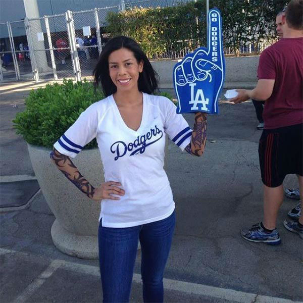 "<div class=""meta ""><span class=""caption-text "">Show us your Dodger love! Post your fan photos on our ABC7 Facebook page, and you might be featured on-air. You can also send us your photos on Twitter or Instagram with #abc7dodgers. LET'S GO DODGERS! (KABC Photo / Yvette Brambila)</span></div>"