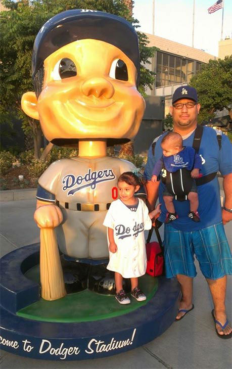 "<div class=""meta ""><span class=""caption-text "">Show us your Dodger love! Post your fan photos on our ABC7 Facebook page, and you might be featured on-air. You can also send us your photos on Twitter or Instagram with #abc7dodgers. LET'S GO DODGERS! (KABC Photo / Alicia and Duncan Helwig)</span></div>"