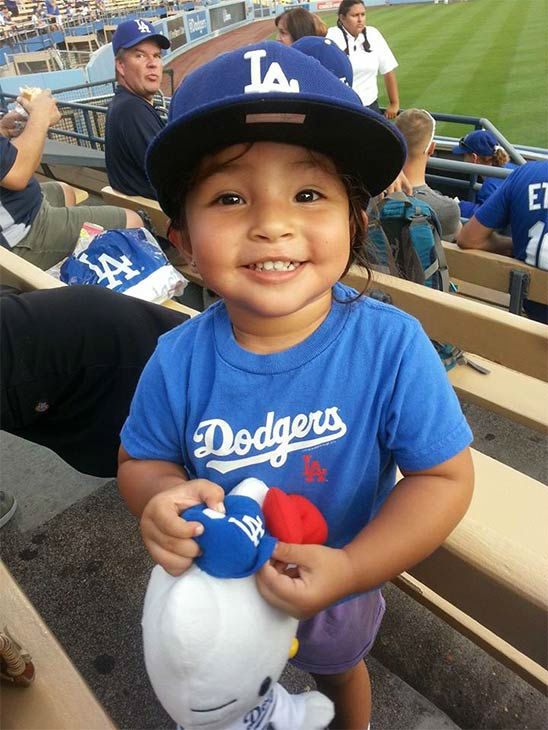 "<div class=""meta ""><span class=""caption-text "">Show us your Dodger love! Post your fan photos on our ABC7 Facebook page, and you might be featured on-air. You can also send us your photos on Twitter or Instagram with #abc7dodgers. LET'S GO DODGERS! (KABC Photo / Angela Camarillo)</span></div>"