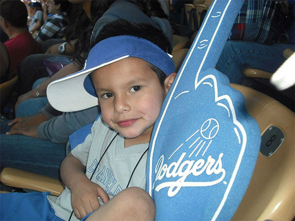 "<div class=""meta ""><span class=""caption-text "">Show us your Dodger love! Post your fan photos on our ABC7 Facebook page, and you might be featured on-air. You can also send us your photos on Twitter or Instagram with #abc7dodgers. LET'S GO DODGERS! (KABC Photo / Annette Lozano)</span></div>"