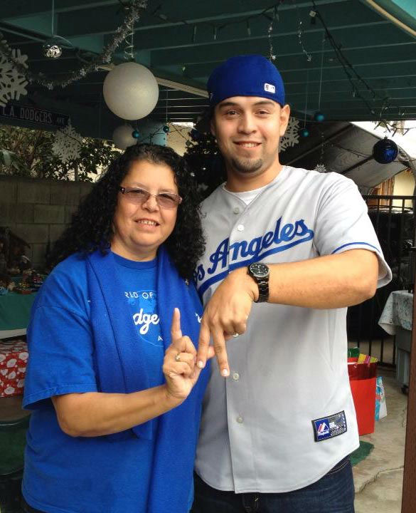 Show us your Dodger love! Post your fan photos on our ABC7 Facebook page, and you might be featured on-air. You can also send us your photos on Twitter or Instagram with #abc7dodgers. LET&#39;S GO DODGERS! <span class=meta>(KABC Photo &#47; Bertha MunozGot Dodger spirit? Post your fan photos on our ABC7 Facebook page, and you might be featured on-air. You can also send us your photos on Twitter or Instagram with #abc7dodgers. GO BLUE!)</span>