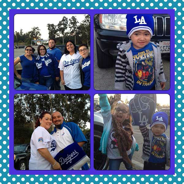 "<div class=""meta ""><span class=""caption-text "">Show us your Dodger love! Post your fan photos on our ABC7 Facebook page, and you might be featured on-air. You can also send us your photos on Twitter or Instagram with #abc7dodgers. LET'S GO DODGERS! (KABC Photo / Bertha Ortega Gonzalez)</span></div>"