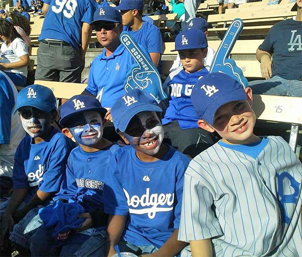 Show us your Dodger love! Post your fan photos on our ABC7 Facebook page, and you might be featured on-air. You can also send us your photos on Twitter or Instagram with #abc7dodgers. LET&#39;S GO DODGERS! <span class=meta>(KABC Photo &#47; Eileen Nichimoto Rodrigues)</span>