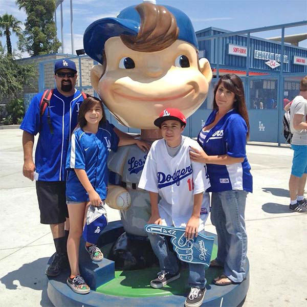"<div class=""meta ""><span class=""caption-text "">Show us your Dodger love! Post your fan photos on our ABC7 Facebook page, and you might be featured on-air. You can also send us your photos on Twitter or Instagram with #abc7dodgers. LET'S GO DODGERS! (KABC Photo / Erika Perez)</span></div>"