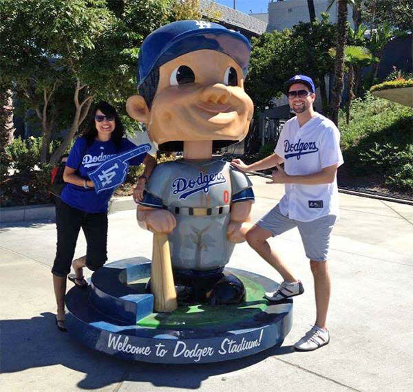 "<div class=""meta ""><span class=""caption-text "">Show us your Dodger love! Post your fan photos on our ABC7 Facebook page, and you might be featured on-air. You can also send us your photos on Twitter or Instagram with #abc7dodgers. LET'S GO DODGERS! (KABC Photo / Linda Toscano-Fountain)</span></div>"