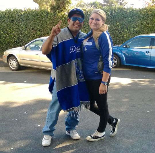 Show us your Dodger love! Post your fan photos on our ABC7 Facebook page, and you might be featured on-air. You can also send us your photos on Twitter or Instagram with #abc7dodgers. LET&#39;S GO DODGERS! <span class=meta>(KABC Photo &#47; Lindsay Aguilar)</span>