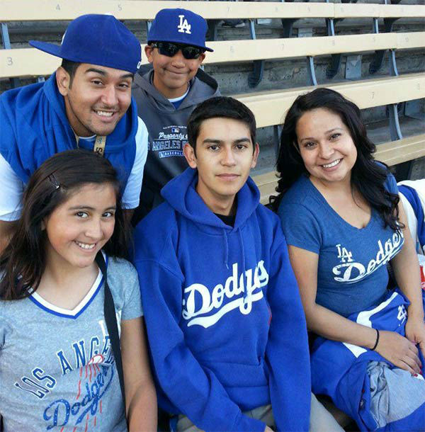 "<div class=""meta ""><span class=""caption-text "">Show us your Dodger love! Post your fan photos on our ABC7 Facebook page, and you might be featured on-air. You can also send us your photos on Twitter or Instagram with #abc7dodgers. LET'S GO DODGERS! (KABC Photo / Rachel Borja Chaides)</span></div>"