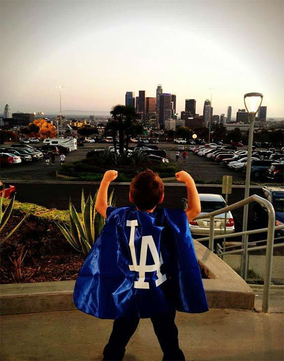 Show us your Dodger love! Post your fan photos on our ABC7 Facebook page, and you might be featured on-air. You can also send us your photos on Twitter or Instagram with #abc7dodgers. LET&#39;S GO DODGERS! <span class=meta>(KABC Photo &#47; Eddie Herrera)</span>