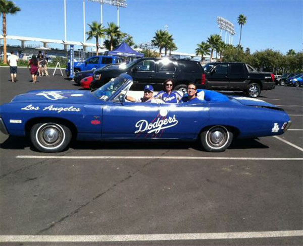 "<div class=""meta ""><span class=""caption-text "">Show us your Dodger love! Post your fan photos on our ABC7 Facebook page, and you might be featured on-air. You can also send us your photos on Twitter or Instagram with #abc7dodgers. LET'S GO DODGERS! (KABC Photo / Patricia Carrillo)</span></div>"