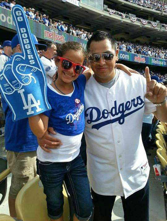 "<div class=""meta ""><span class=""caption-text "">Show us your Dodger love! Post your fan photos on our ABC7 Facebook page, and you might be featured on-air. You can also send us your photos on Twitter or Instagram with #abc7dodgers. LET'S GO DODGERS! (KABC Photo / Yvette Curd)</span></div>"