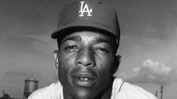 A March 18, 1961, file photo shows Los Angeles Dodgers center fielder Willie Davis.