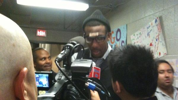 Amare Stoudemire dropped 42 points in Game 3 and spoke to the media after his huge game.