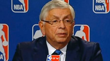NBA Commissioner David Stern speaks at a press conference on Friday, Oct. 28, 2011.