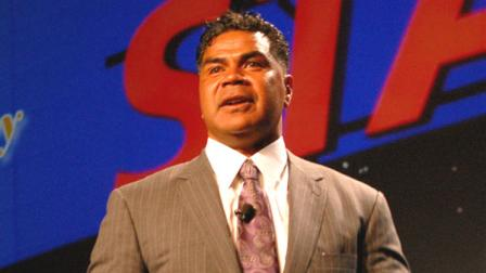 NFL legend Junior Seau is seen in this file photo at the 2012 Legends Dinner and Auction.