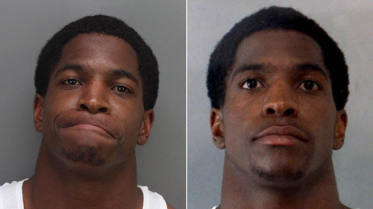 Former NFL player Titus Young is seen in these booking photos provided by the Riverside County Sheriffs Department.