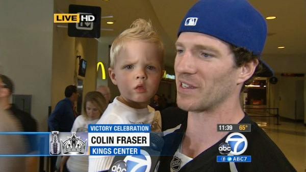 Colin Fraser's son cheers 'Go Kings Go'