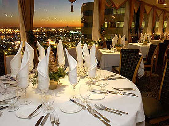 The Sky Room, a California-eclectic restaurant...