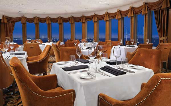 Sir Winston's, a contemporary American restaurant aboard the Queen Mary in Long Beach, Calif., was chosen as one