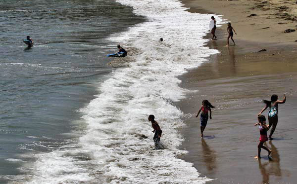 Capitola Beach  in Santa Cruz County ranked No.10 on Heal the Bay&#39;s 2011 Beach Bummer list.  Read more about the group&#39;s 2010-11 beach report.  <span class=meta>(AP Photo&#47;Marcio Jose Sanchez)</span>