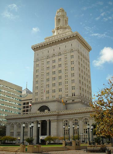 "<div class=""meta ""><span class=""caption-text "">Oakland City Hall is seen in this photo. Oakland ranked No. 14 on Forbes' list of America's Most Overpriced Cities. Forbes based the rankings on where cost of living is highest compared to the area's median income. Eight other California cities also made the list. (flickr.com/ Daniel Ramirez)</span></div>"