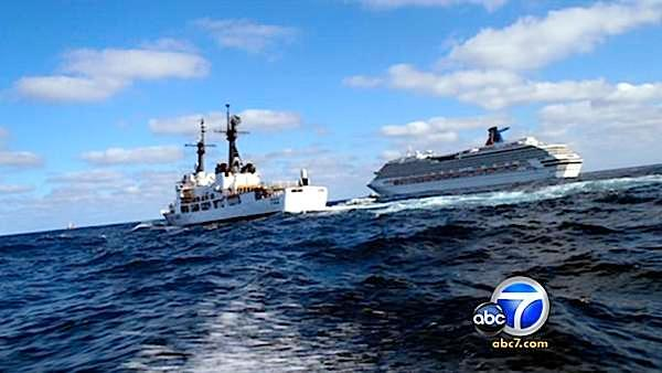Stranded cruise ship towed to San Diego port