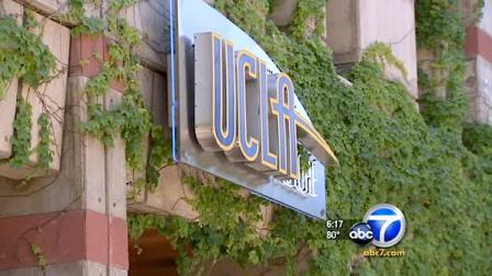 A UCLA store sign is shown in this undated file photo.