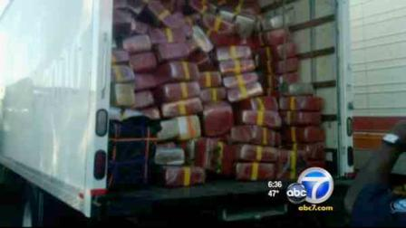 Federal customs agents said they foiled an attempt to smuggle more than 9 tons of marijuana into California.