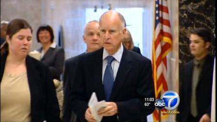 California Gov. Jerry Brown is seen in this undated file photo.