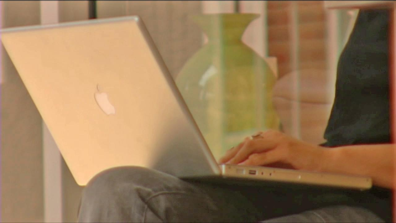 A Mac user is seen in this file photo.