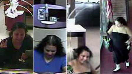 Surveillance still images show the suspect dubbed the Plain Jane Bandit.
