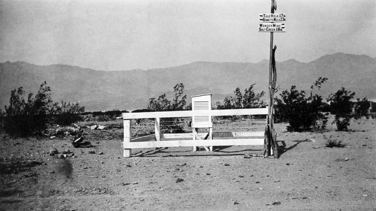 The original Death Valley weather station is shown in this photo provided by the Death Valley National Park Service.