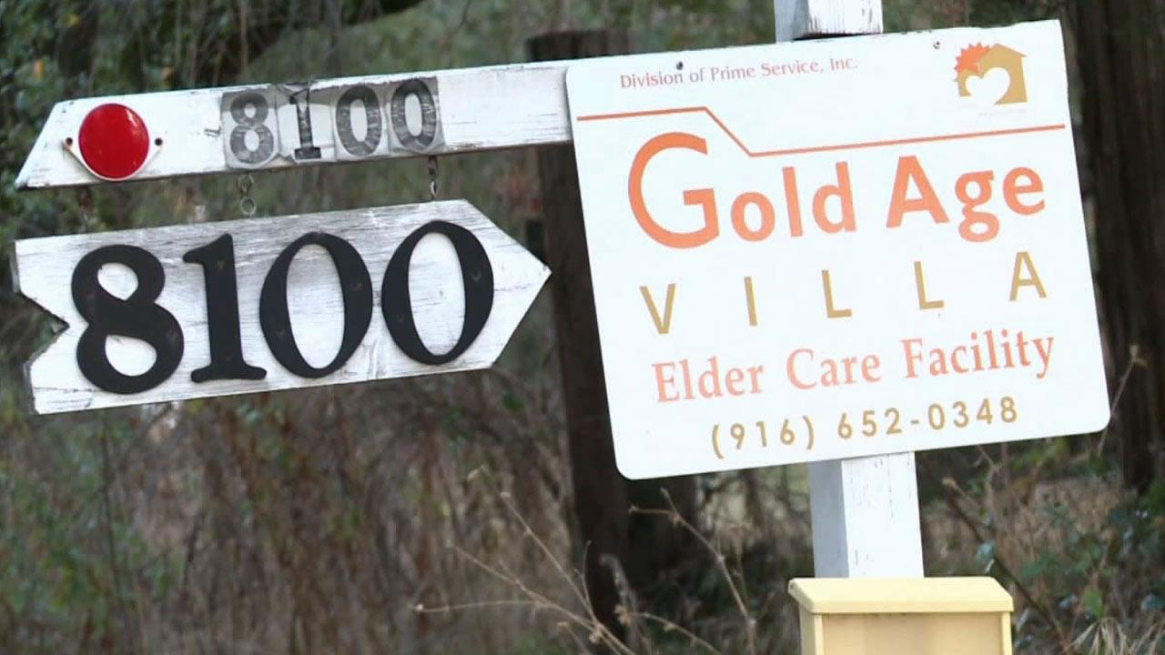 The sign for the Gold Age Villa, an assisted living facility in Loomis, Calif., is shown in this undated file photo.