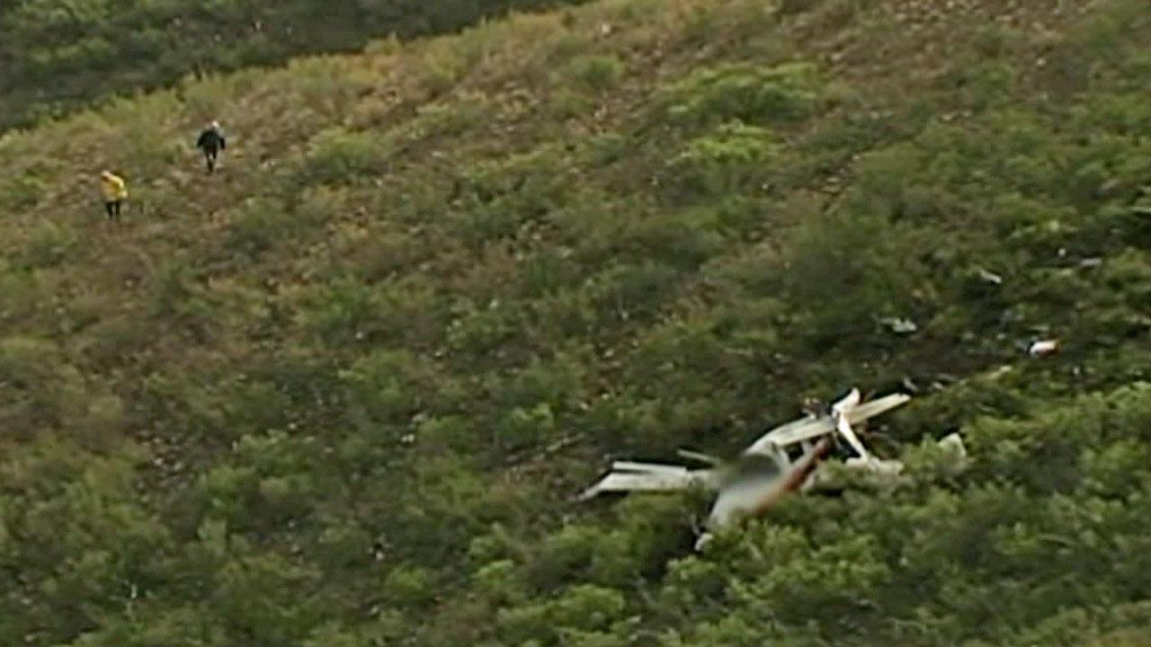 A small plane crashed in the Sycamore Canyon Open Space Preserve, north of Santee, on Saturday, Dec. 29, 2012, killing three people aboard.