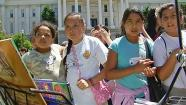 Students learn about Harvey Milk at the California Capitol on Tuesday, May 21, 2013.
