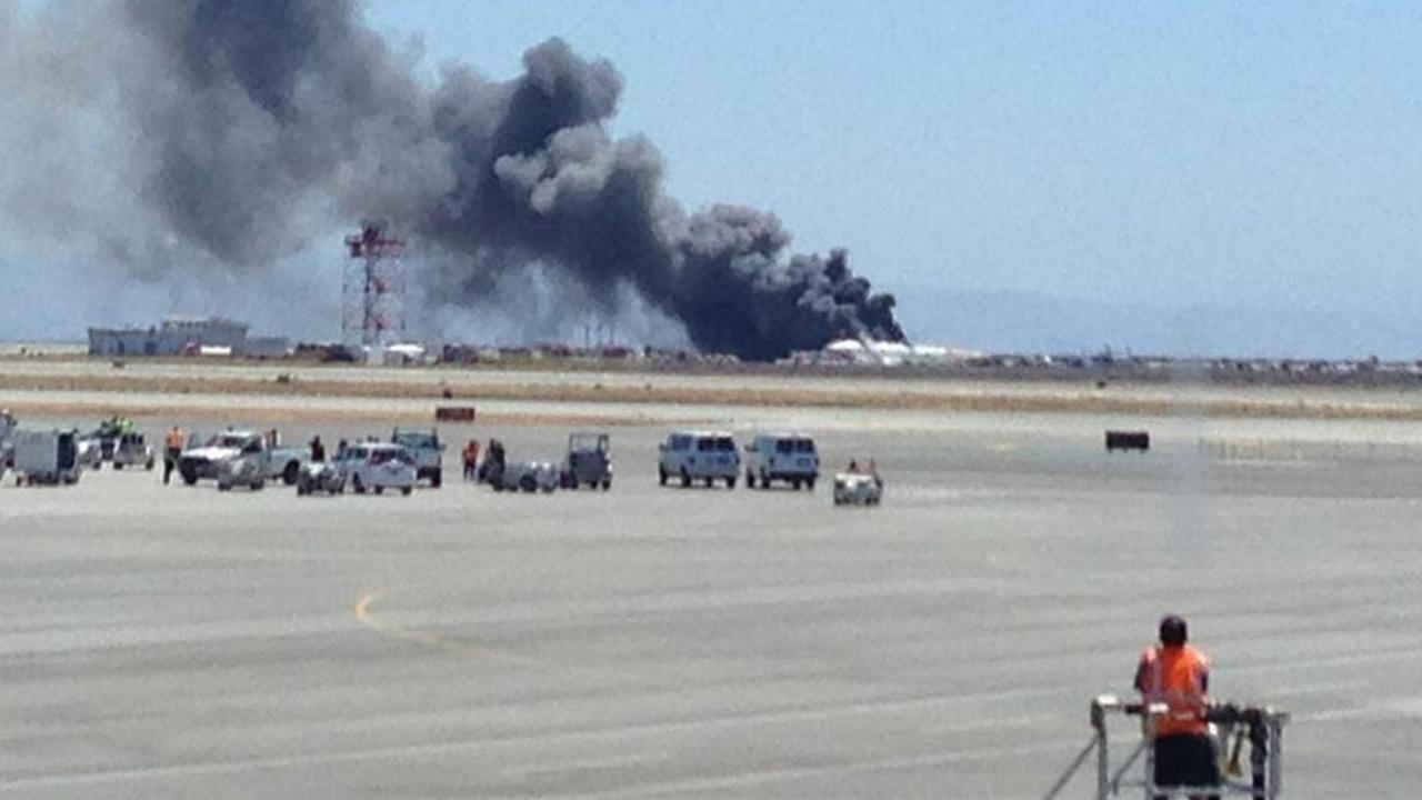 The Federal Aviation Administration says an Asiana Airlines plane crashed while landing at San Francisco International Airport on Saturday, July 6, 2013. <span class=meta>(Twitter @kristaseiden)</span>