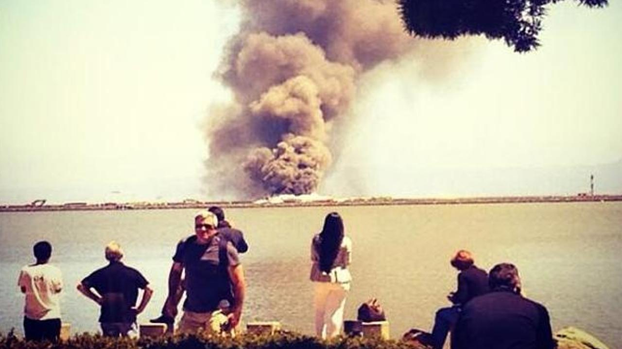 The Federal Aviation Administration says an Asiana Airlines plane crashed while landing at San Francisco International Airport on Saturday, July 6, 2013.Instagram @armyofnon