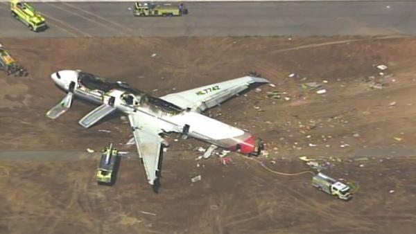 The Federal Aviation Administration says an Asiana Airlines plane crashed while landing at San Francisco International Airport on Saturday, July 6, 2013.