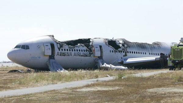 National Transportation Safety Board posted this photo to Twitter on Sunday, July 7, 2013, of the Asiana Airlines Boeing 777 that crashed at SFO.
