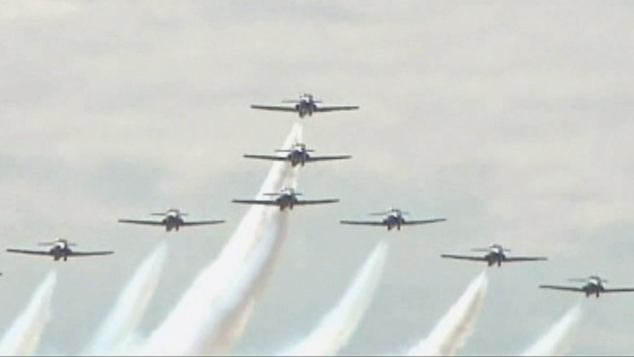 Planes fly overhead during the annual Miramar Air Show in this 2009 file photo.