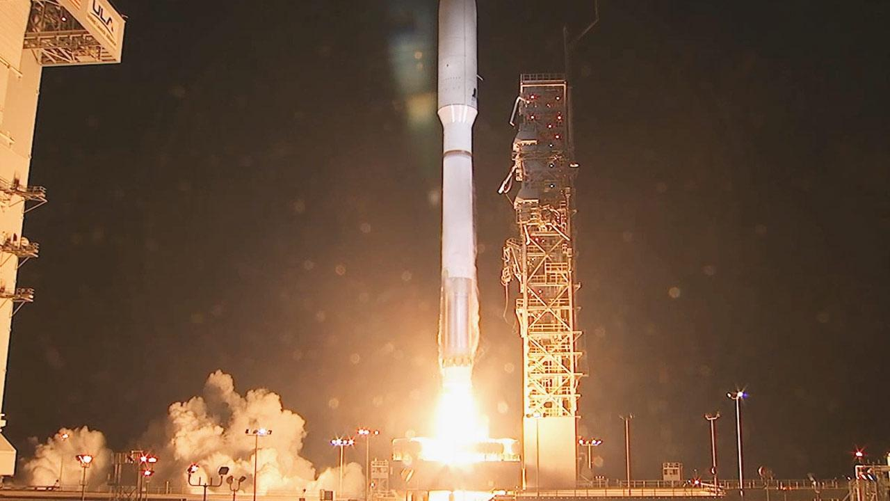 A rocket carrying a secret U.S. government payload successfully launched from Vandenberg Air Force Base on the central California coast Thursday night, Dec. 5, 2013.