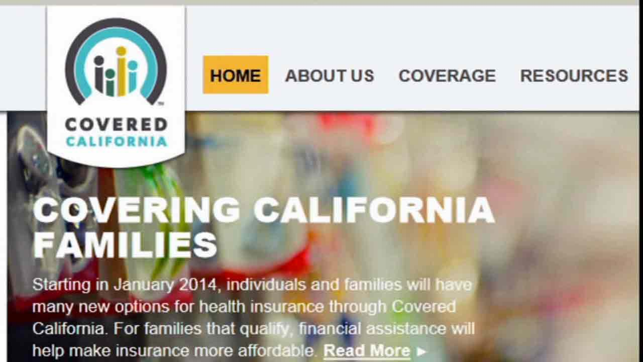 The Covered California website is seen in this undated file photo.