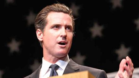 In this Oct. 17, 2010 file photo, then candidate for Lt. Governor Gavin Newsom, speaks during a California Democratic Party on the San Jose State University campus on in San Jose, Calif.