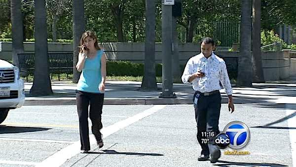 Texting while driving will get you a ticket. But what about walking while texting? That's what's bugging some ABC7 viewers.