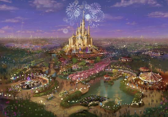 "<div class=""meta ""><span class=""caption-text "">This photo shows an artist's rendering that depicts the proposed Shanghai Disney Resort.  (Disney Parks)</span></div>"