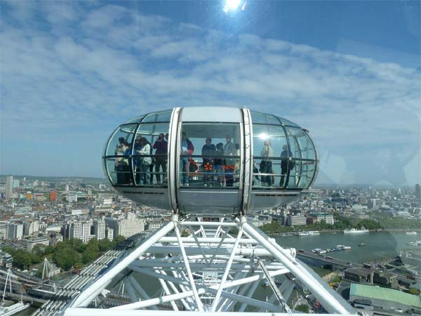 The London Eye is a huge Ferris wheel and a great way to take in the best views of the city. <span class=meta>(KABC)</span>