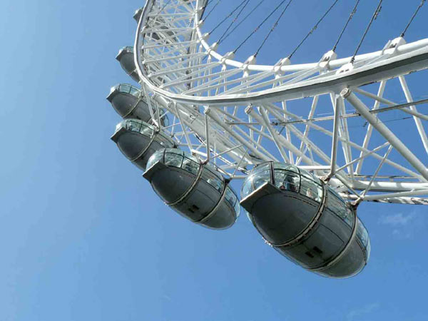 The London Eye is a huge Ferris wheel and a great way to take in the best views of the city.