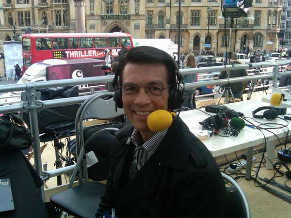 ABC7 anchor David Ono did a radio interview with the BBC in London. <span class=meta>(KABC)</span>