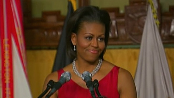 U.S. First lady Michelle Obama ranked No. 7 on...
