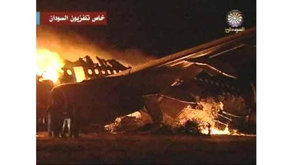 Plane crash in Khartoum, Sudan