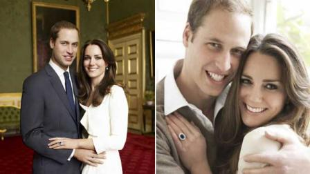 Seen here are the official engagement photos of Prince William and Kate Middleton.